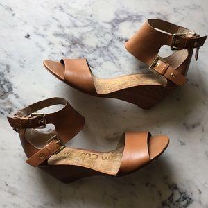 Sam Edelman Susanna Leather Wedge Sandals